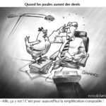 illustration poule bureau